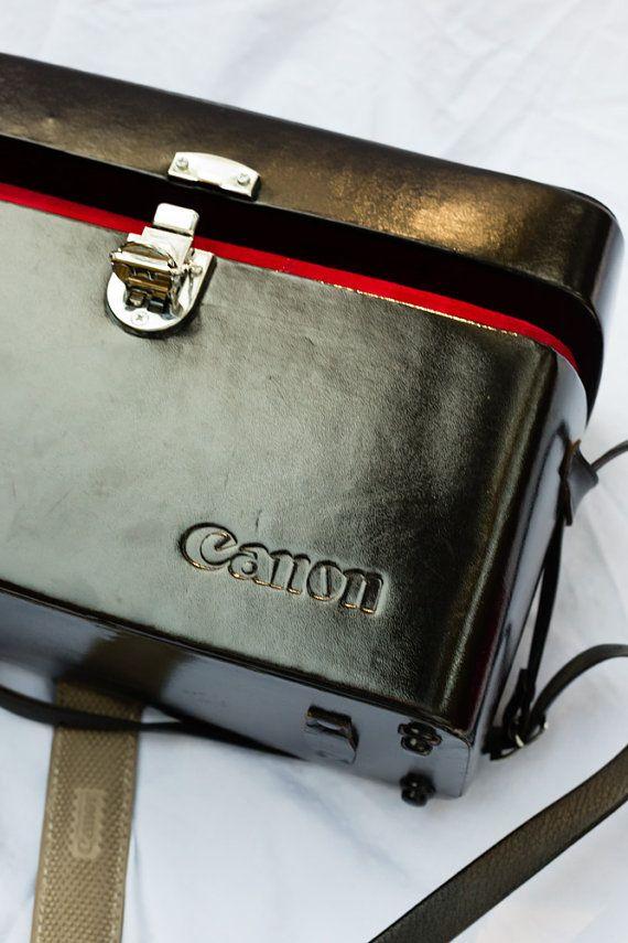 Shiny Black Canon Camera Case Hard Case by DiademVintageVisuals