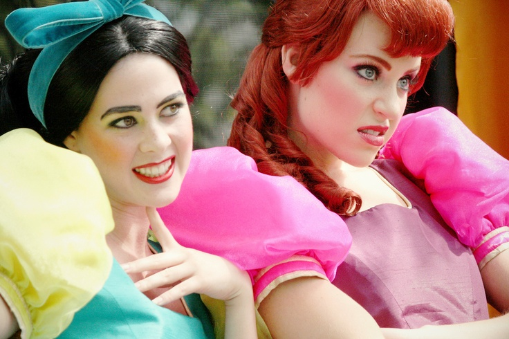 Drizella and Anastasia from Cinderella....my dream in life is to be Anastasia at Disney World...those two have so much fun...