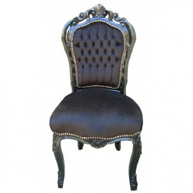Rococo Dining Chair - Black on Black