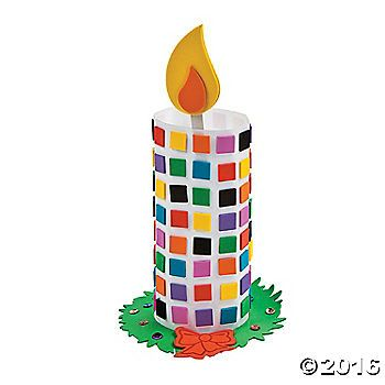 Mosaic Candle Craft Kit. Let your light shine with this self-adhesive Mosaic Candle Craft Kit. Complete with Christmas wreath and bright red bow, this 11 ...