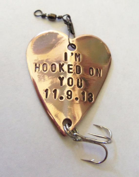 Hooked on You Fishing Lure Custom Men Gift by CandTCustomLures