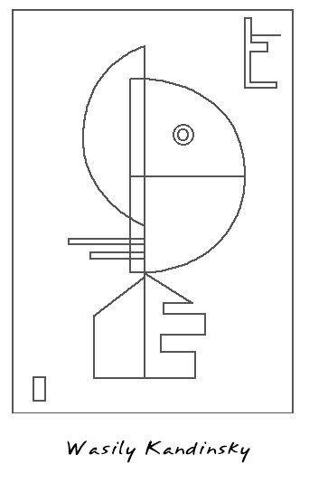kandinsky coloring page