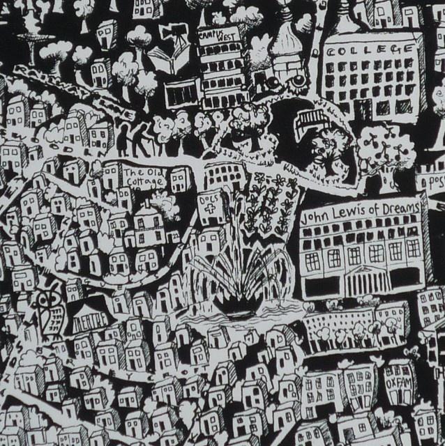 Caroline Harper. Hand-drawn maps | Details of Welwyn Garden City