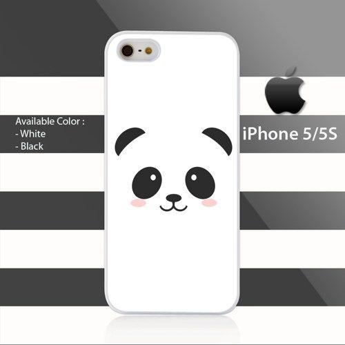 Face Panda Cute iPhone 5 5s Rubber Case Cover