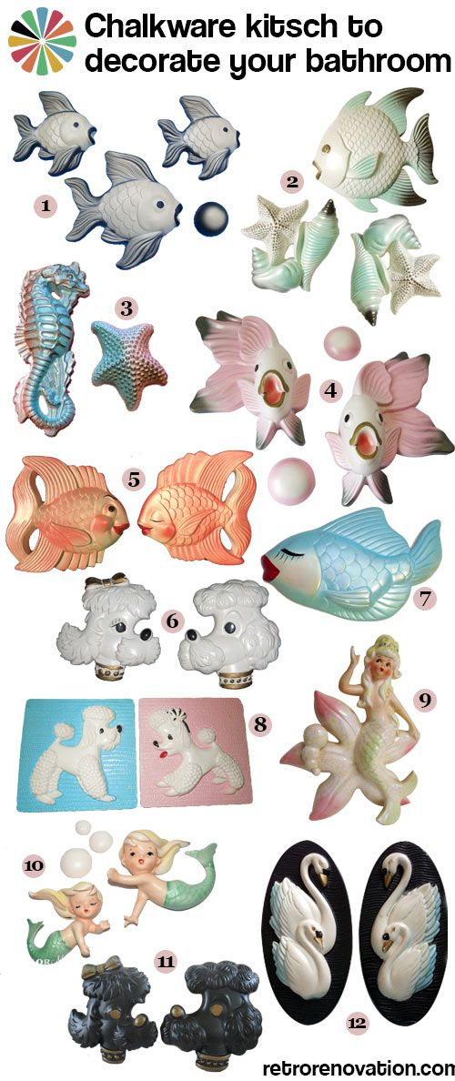 vintage chalkware I WANT THEM ALL