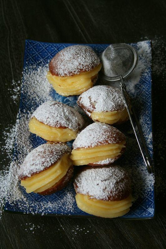 Boules de Berlin (beignet à la crème pâtissière)