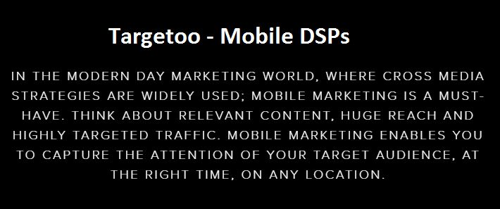 Mobile Marketing Services http://www.targetoo.com/#welcome