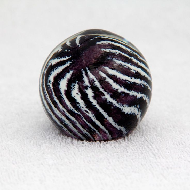 Glass Paperweight Crystal Globe Vintage OpArt 60's Style Bridget Riley2in Tall