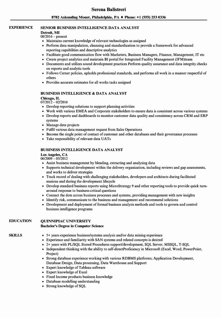 23 data analyst resume examples in 2020 resume examples
