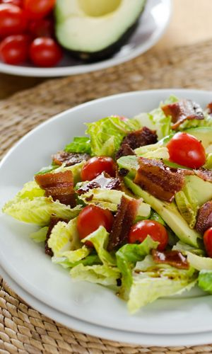 This paleo BLT salad is a quick and easy meal. And with bacon, avocado, and chipotle balsamic dressing, it packs a lot of flavor.