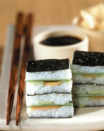 dadini di sushi con salsa di soia