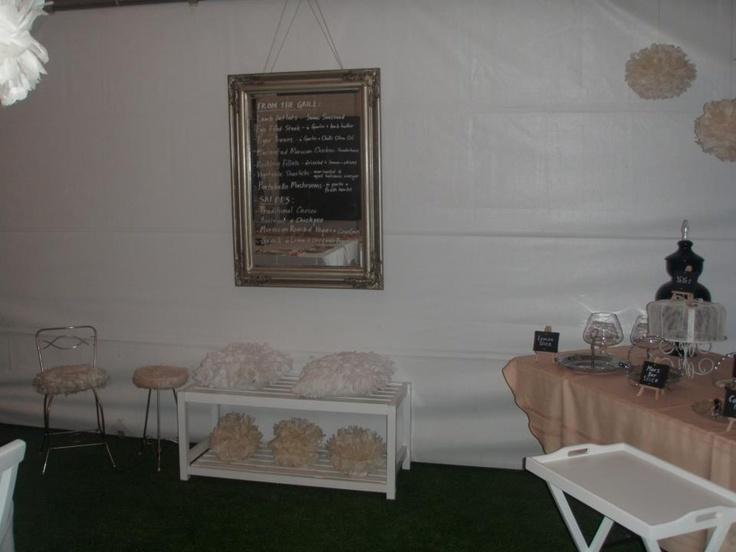 Buffet area setup