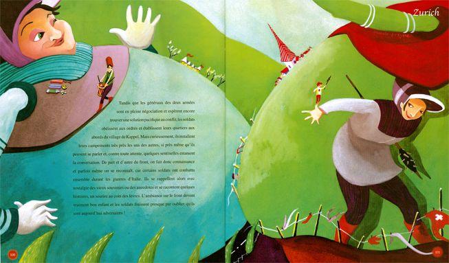 """Pascale Breysse illustration for """"Histoires et Légendes de Suisse""""."""