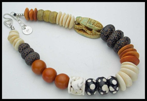 EGYPTIAN SCARAB Egyptian Faience Old от sandrawebsterjewelry