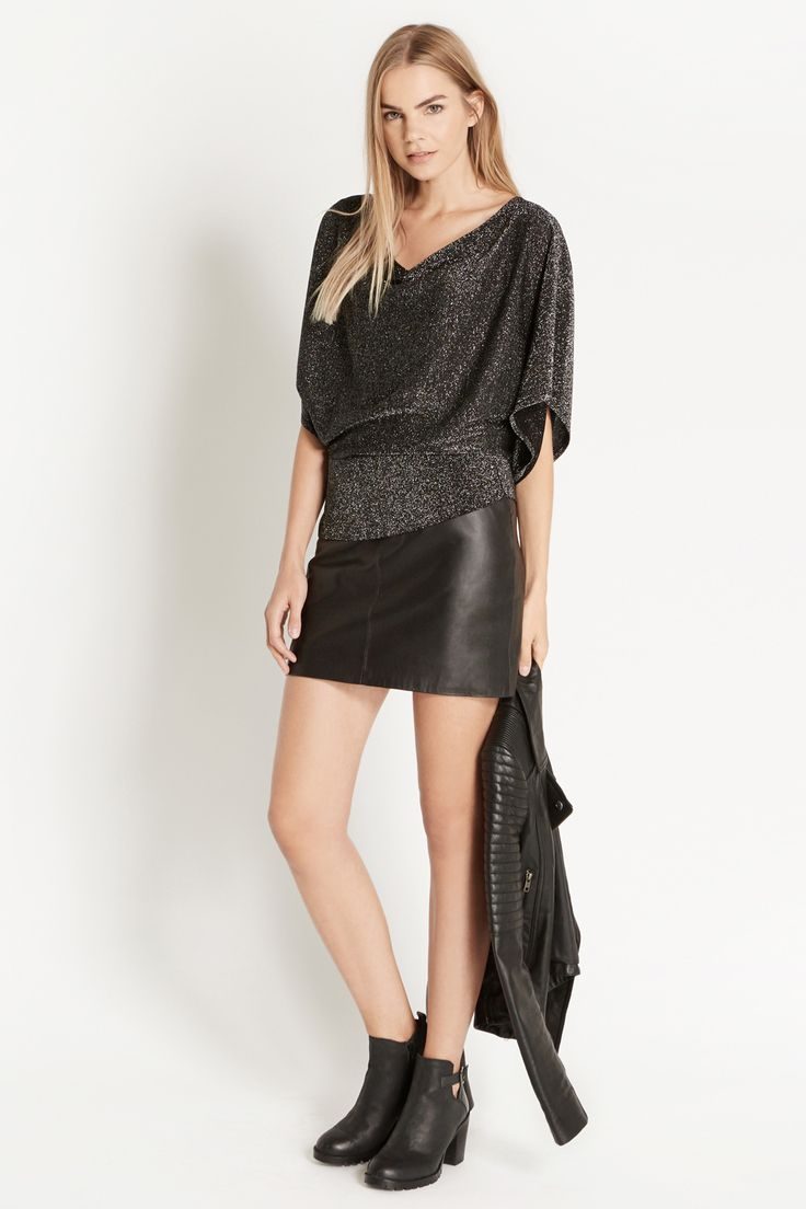 This sparkling kaftan top is the perfect way to add a little shimmer to your style. #MyPartyMyStyle