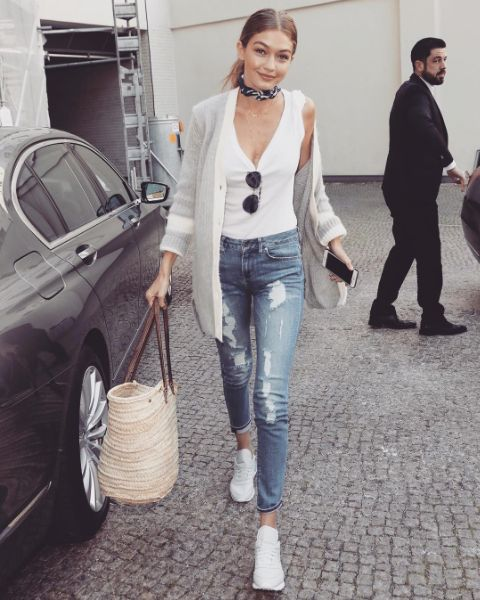 The gorgeous Gigi Hadid herself spotted wearing TOMMYXGIGI