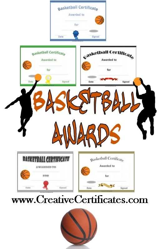Free printable basketball certificates and awards that can for Youth sports photography templates