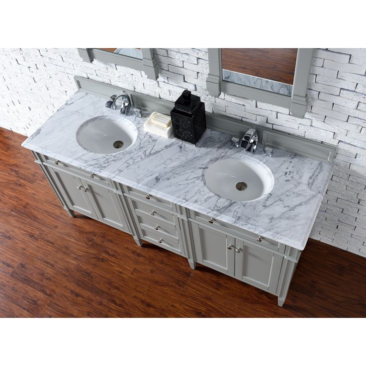 James Martin Furniture Brittany 72 Inch Double Vanity cabinet in Urban