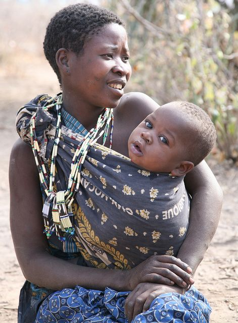 Ethnic Baby Sling Hunter-Gather Wa-Hadzabe Tribe Tanzania by eriagn, via Flickr