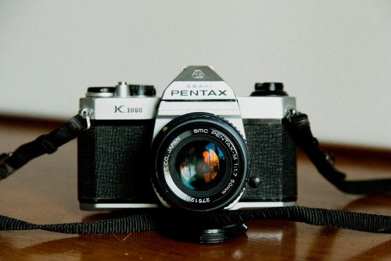Vintage Pentax K-1000 by MicroscopeTelescope on Etsy