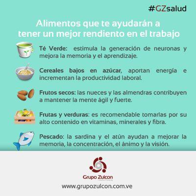 #GZsalud: ¡Cuida tu alimentación! Comamos con inteligencia. #RRHH