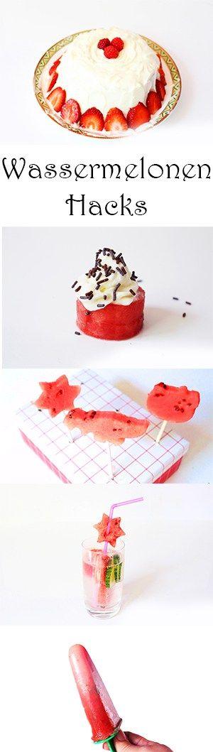 Wassermelonen Hacks und Rezepte - Wassermelonentorte, Cupcakes, Detox Wasser, Eis