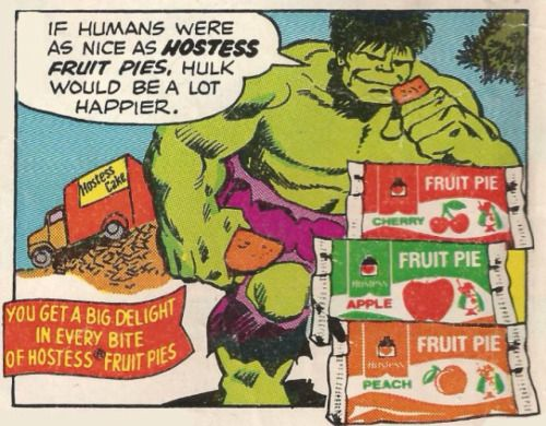 """yesteryearads:  """"If Humans Were As Nice As Hostess Fruit Pies…""""  Hostess Fruit Pies"""
