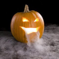 7 Dry Ice Dos and Don'ts - example: tips for using dry ice to create steam or smoke from a carved pumpkin face.