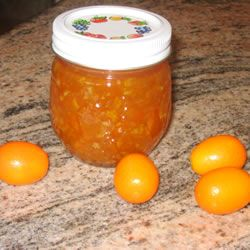 """Kumquat Marmalade Allrecipes.com:        """"A sweet home made kumquat marmalade made with fresh kumquats and a couple of oranges. No added pectin is necessary for this seasonal treasure. The amount of marmalade produced can be adjusted easily to the amount of fruit you have on hand."""""""