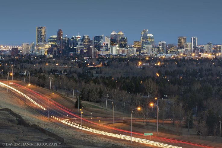 Calgary cityscape from Nosehill