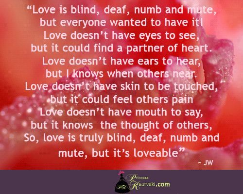 Love is loveable :)