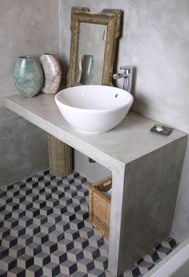 Bancada de banheiro em alvenaria