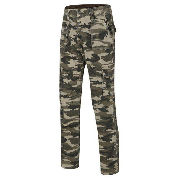 Camo Straight Legs Cargo Pants For Men