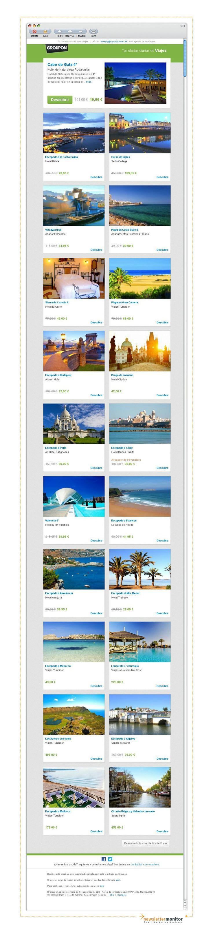 Brand: Groupon Viajes | Subject: Almería | Murcia | Inglés en Dublin | Alicante | Gran Canaria | Budapest