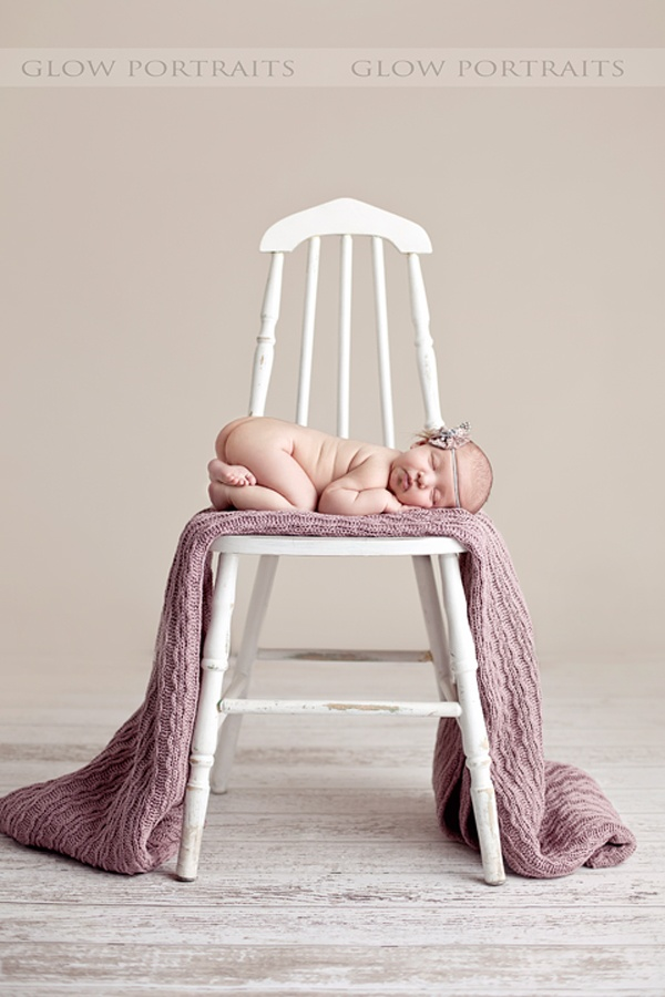With the blanket. pop of purple: Vintage Chairs, Newborn Pictures, Blankets Styles, Maternity Photo With Blankets, Chairs Photo, Upholstered Chairs, Baby Blankets, Baby Photo, Newborn Photography Blankets