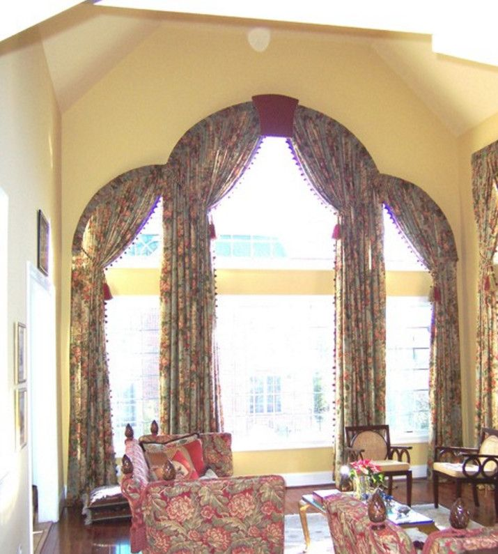 Diy Half Moon Window Treatments Arched Window Treatments House Furniture Design