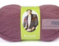 Fir de tricotat sau crosetat - Fire tip mohair din acril premium Nako REKOR MOV 569