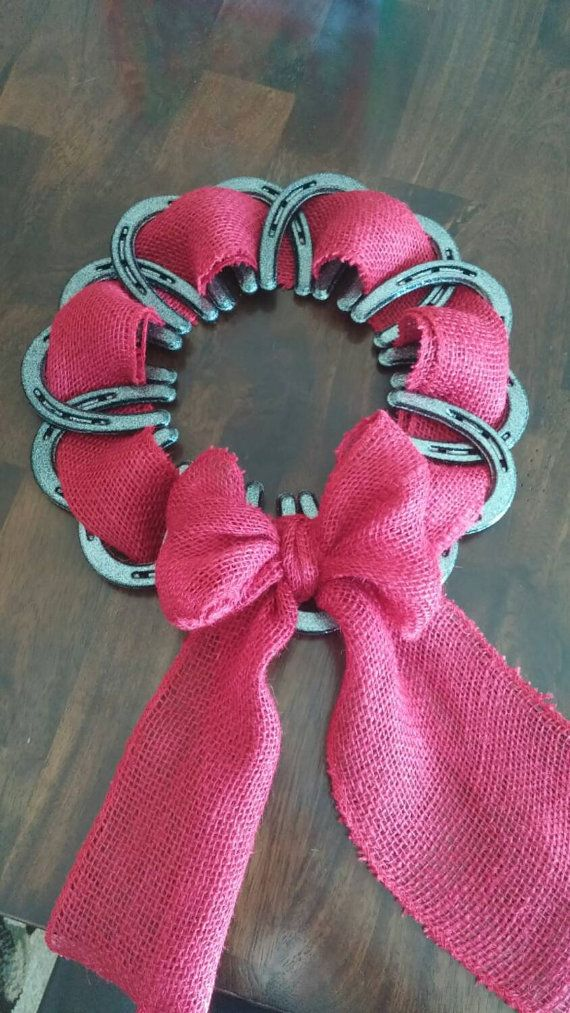 Check out this item in my Etsy shop https://www.etsy.com/listing/258245745/horseshoe-wreath