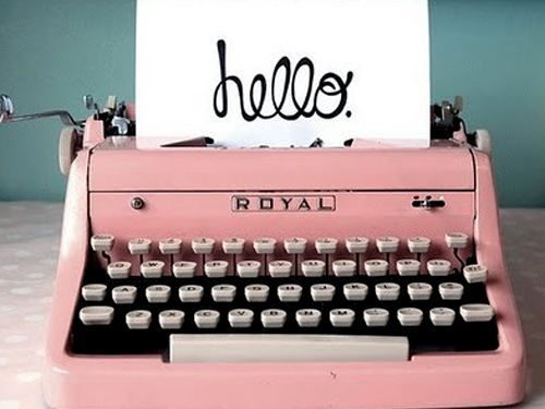 Do you still own a typewriter? What a cool way to write someone a letter!