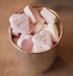 Sweet pink Valentine hearts.