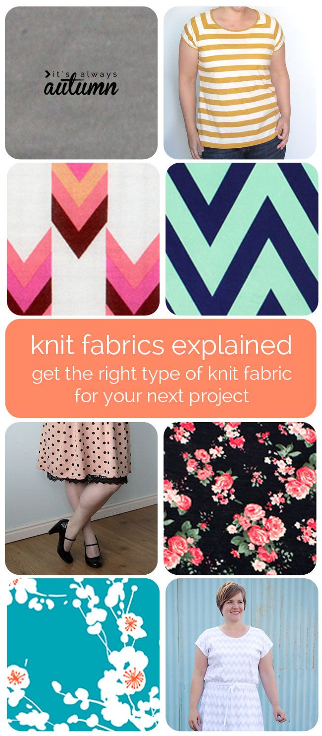 stop ordering the wrong type of knit for your sewing projects! this post explains different types of knit so you know what each is like and best suited for. PLUS there's a fabric giveaway!