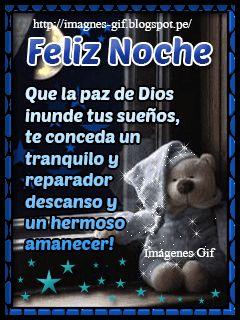 Imágenes Gif: Feliz Noche mis amigos bellos Dios los Bendiga