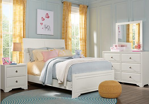 picture of Belcourt Jr. White 5 Pc Full Sleigh Bedroom  from Teen Bedroom Sets Furniture