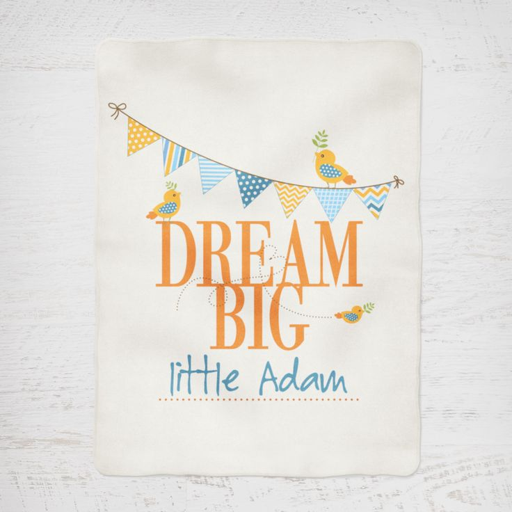 Colour and Spice Personalised Blanket Dream Big Blue