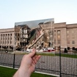 Looking Into The Past: 9/11 In the spirit of Dear Photograph and as part of the commemoration of the 10th anniversary of the tragedy of September 11, 2001, the photographer Jason Powell mixed past and present photographs of places at the Pentagon and NYC.