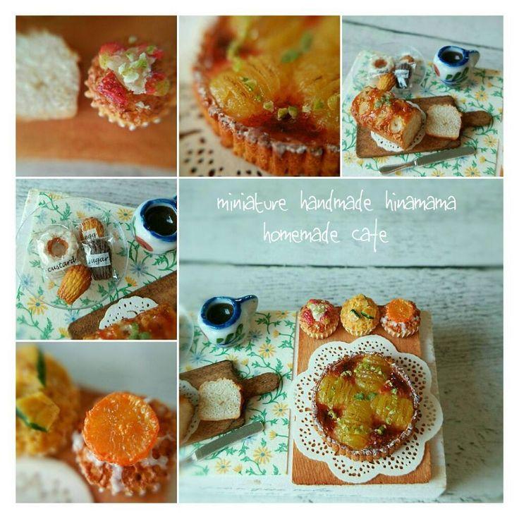 自家製洋梨タルトのセット🍐 🍐 🍐 ✨ * ヤフオクに出品しました🍴 お時間ございましたら見にきてください🐤 * * #ミニチュア#ミニチュアフード#ミニチュアスイーツ#ドールハウス#miniature#miniaturehood#dollhouse#tart#muffin#poundcake#homemade#自家製#洋梨#タルト#マフィン#パウンドケーキ#ヤフオク#ヤフオク出品中