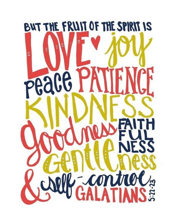 Fruit of the Spirit. I want to frame this for my house.