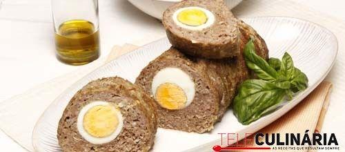 Receita de Rolo de carne picada. Descubra como cozinhar Rolo de carne picada de maneira prática e deliciosa com a Teleculinária!