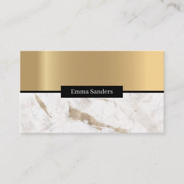 Modern Elegant Marmor Gold Visitenkarte Zazzle De Gold
