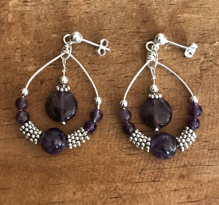 A personal favorite from my Etsy shop https://www.etsy.com/listing/562838971/purple-earrings-amethyst-sterling-silver